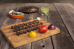 & x22; Churrasco DE curacao& x22; , traditioneel Braziliaans barbecuevoedsel Royalty-vrije Stock Foto