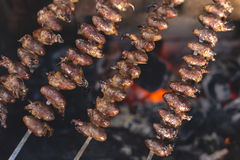 """Churrasco de curacao"", traditional Brazilian food Royalty Free Stock Images"