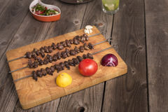 & x22; Churrasco DE curacao& x22; , traditioneel Braziliaans barbecuevoedsel Stock Foto's