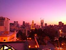X. Tehran Iran Sunset stock image