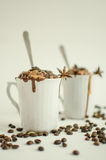 & x22; Coffe、巧克力和冰淇凌点心 库存图片