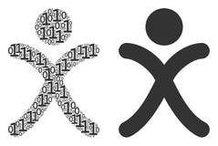 X collage de garçon de génération des éléments binaires Photo stock