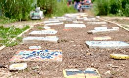 & x22; Colora meu Path& x22; Fotos de Stock