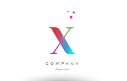 X colored rainbow creative colors alphabet letter logo icon vector illustration