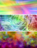 3 x Colorful Website Banners. Three different website banners with vivid rainbow colors Royalty Free Stock Photos