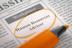 We& x27 ; conseiller de location re de ressources humaines 3d Images stock