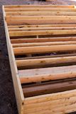 2 x 6 constuction framing panels. 2 x 6 construction framing panels ready for assembly Royalty Free Stock Photo