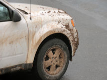 4x4 covered in mud in Sedona Stock Image