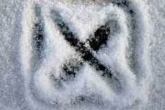 X cristalizado imagem de stock