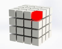 4x4 Cube Stock Photos