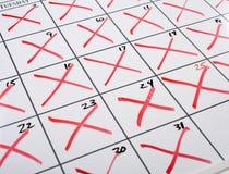 X-d para fora Calendar imagens de stock