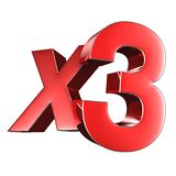 X3 3D.with Clipping Path royalty free stock photos