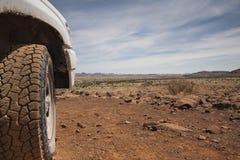 4x4 in der Wüste Stockbilder