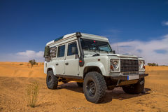 4x4 in desert. 4x4 all terrain car at the Tunisian desert Stock Photos