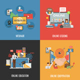 2x2 Design Concept Set Of Webinar Icons Stock Image
