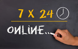 7X24 direktanslutet Arkivbild