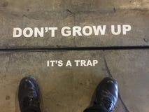 & x22; Don& x27; t groeit, It& x27; s een Trap& x22; teken Stock Afbeelding