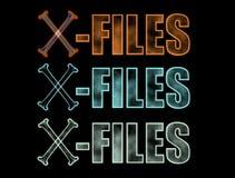 X-dossiers embleem Stock Afbeeldingen