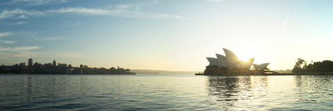 12x36-duim Sydney Opera House Panorama Stock Foto's