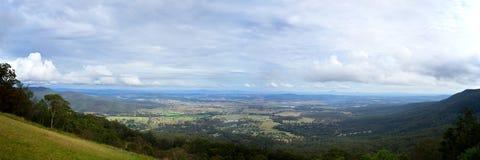 12x36 duimpanorama Canungra Queensland Australië Royalty-vrije Stock Foto