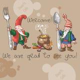 """Dwarfs Cafe"" Welcome Royalty Free Stock Photo"