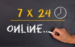 7X24 em linha Fotografia de Stock