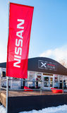 X-excursão de Nissan do evento dos carros na estância de esqui Krasnaya Glinka Imagens de Stock