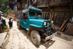 4x4 in Falam, Myanmar (Birmania) Fotografia Stock