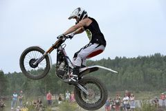 4x4 Festival Sweden. Jimmy Olsson appearance on 4x4 Festival in Sweden on motorcycle Royalty Free Stock Photography
