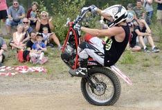 4x4 Festival Sweden. Jimmy Olsson appearance on 4x4 Festival in Sweden on motorcycle Stock Photo