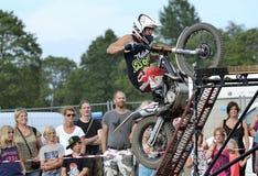 4x4 Festival Sweden. Jimmy Olsson appearance on 4x4 Festival in Sweden on motorcycle Stock Image
