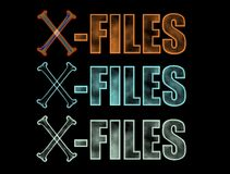 X-files logo. 3d x-files logo digital artwork Stock Images