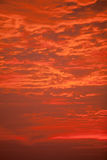 'Fire Sky' - Clouds lit up red in a dramatic sunrise. Stock Images