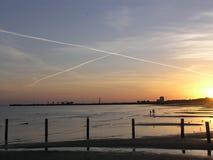 X fläckar fläcken, tack vare Keesler AFB på Biloxi, ms Arkivbilder