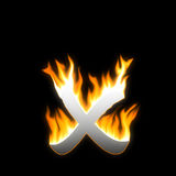 X fuoco Fotografia Stock Libera da Diritti