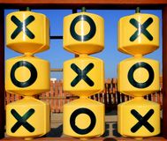X 0 Game. Photo of an x and 0 game in a children's playground Stock Images