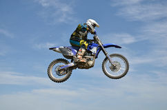 X games rider on motorbike efficient flight Royalty Free Stock Image