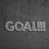 & x22; Goal& x22; scritto su una lavagna fotografie stock