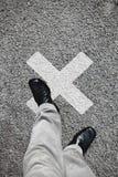 X ha segnato il punto Fotografia Stock