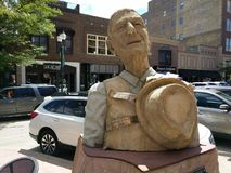& x22; Hallelujah! & x22; da Peter Vogelaar & da x28; BC, CA& x29; - come visto su Sioux Falls SculptureWalk fotografie stock libere da diritti
