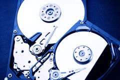 2 x HDD - Festplattenlaufwerk ist offen- 2,5 und 3,5 Lizenzfreie Stockfotografie