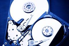 2 x HDD - movimentação de disco rígido está aberto - 2,5 e 3,5 Fotografia de Stock Royalty Free