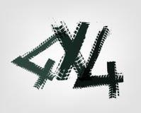4x4 het van letters voorzien Beeld Stock Illustratie