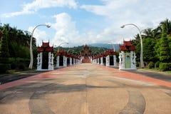 X28 &; Ho Kham Luang& x29; w Królewskim Parkowym Rajapruek blisko Zdjęcie Stock