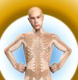 X hombre del rayo Fotos de archivo libres de regalías