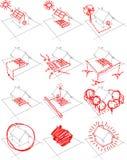 12x house energy concept diagram Stock Photos