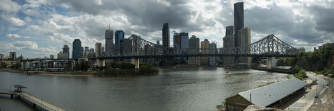 12x36 inch Brisbane Story Bridge Panorama Stock Photos