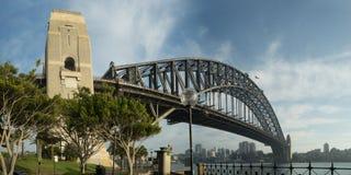 12x24-inch Sydney Harbour Bridge Panorama Imágenes de archivo libres de regalías
