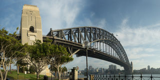 12x24-inch Sydney Harbour Bridge Panorama Lizenzfreie Stockbilder