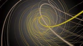 Фантастическая анимация с объектом нашивки в замедленном движении, 4096x2304 петле 4K иллюстрация вектора